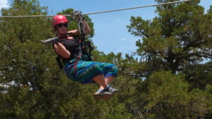 zip line, Colorado, adventure, humor